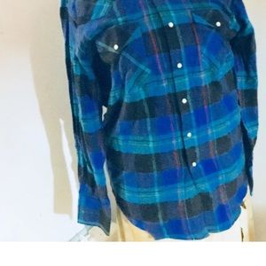 Other - Men's Ely Cattleman Red Blue Flannel-size medium